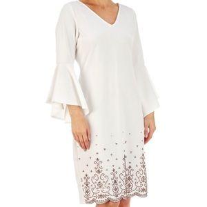 Dresses & Skirts - White midi dress